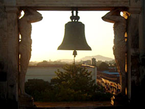 Church Bell in Silhouette
